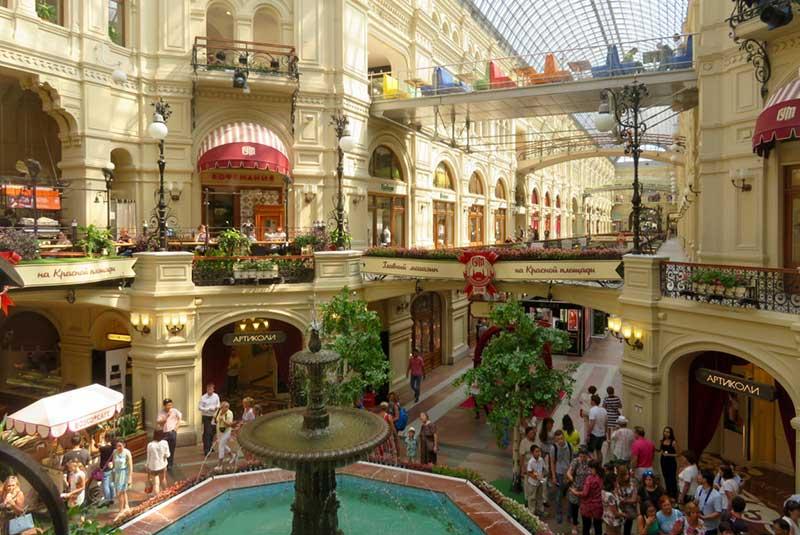 مرکز خرید گوم - میدان سرخ مسکو