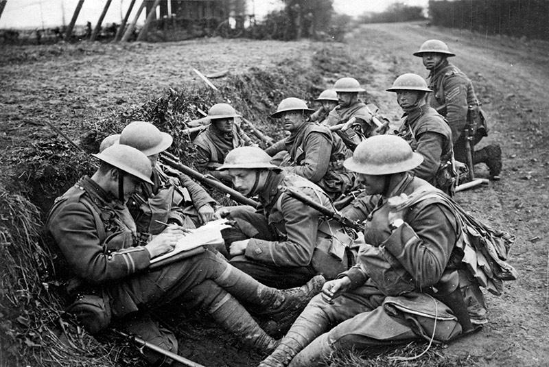 سربازان انگلیسی در جنگ جهانی اول