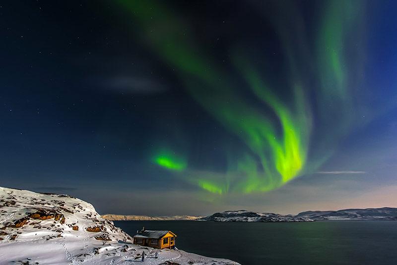 شفق قطبی در کولا