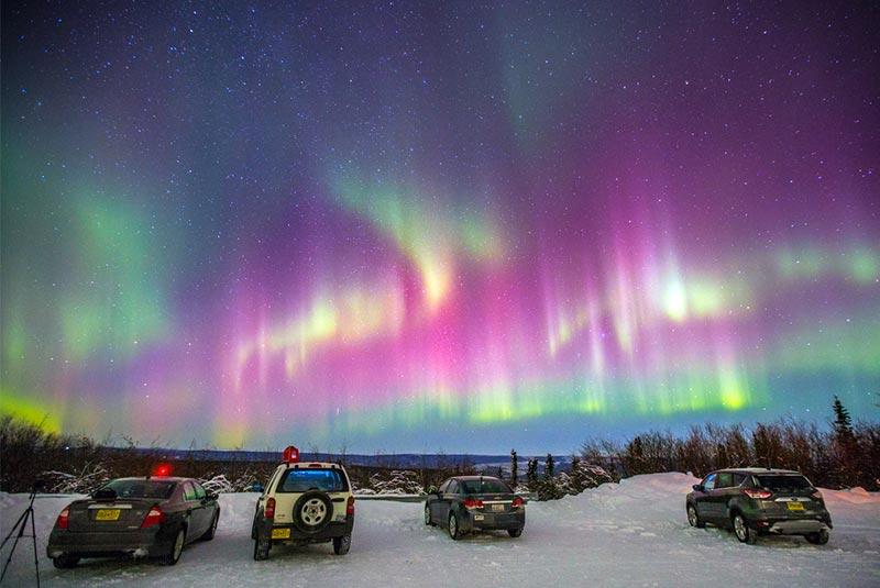 شفق قطبی در فربنکس