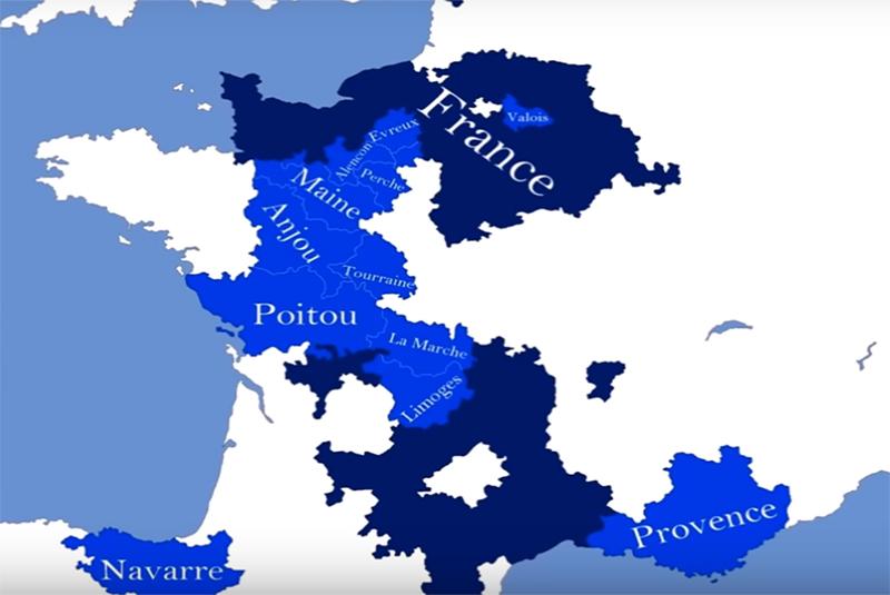 قلمرو فرانسه در قرون وسطی