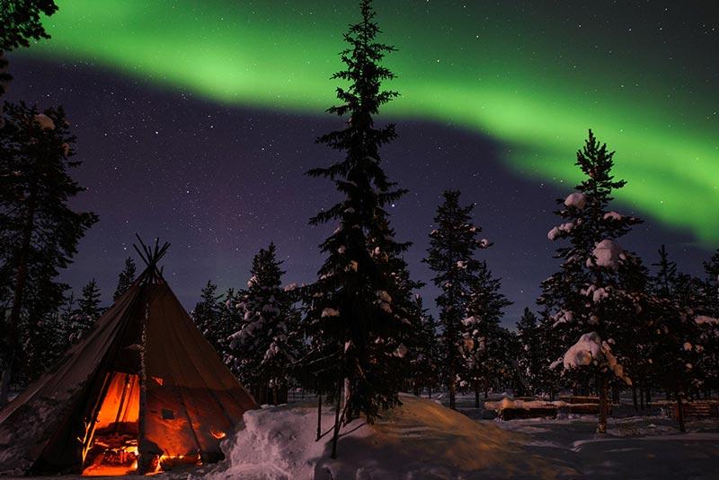 شفق قطبی در یوکاسیروی -سوئد