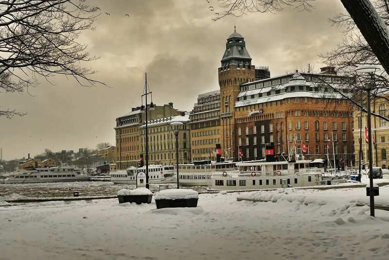 برف در استکهلم