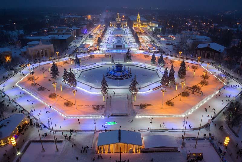 اسکیت روی یخ مسکو