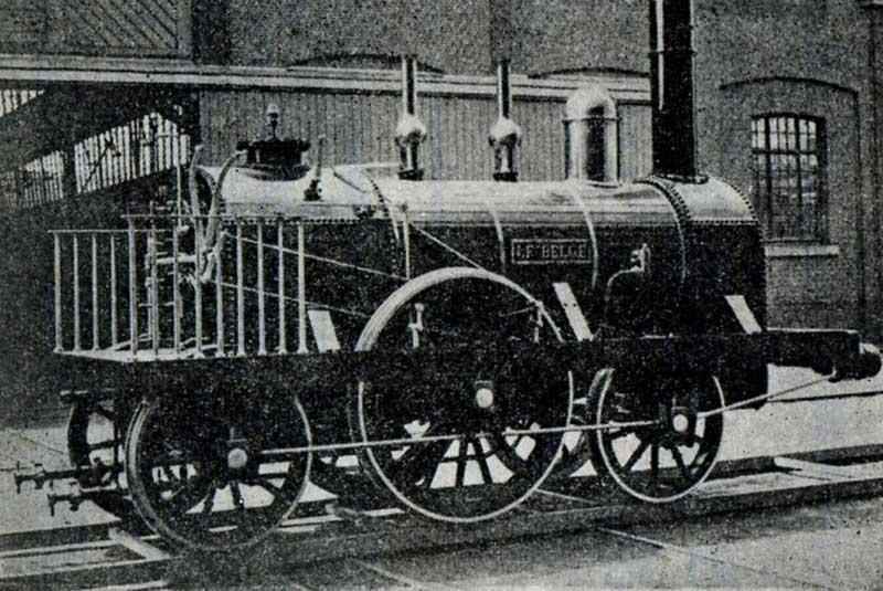اولین قطار بلژیک