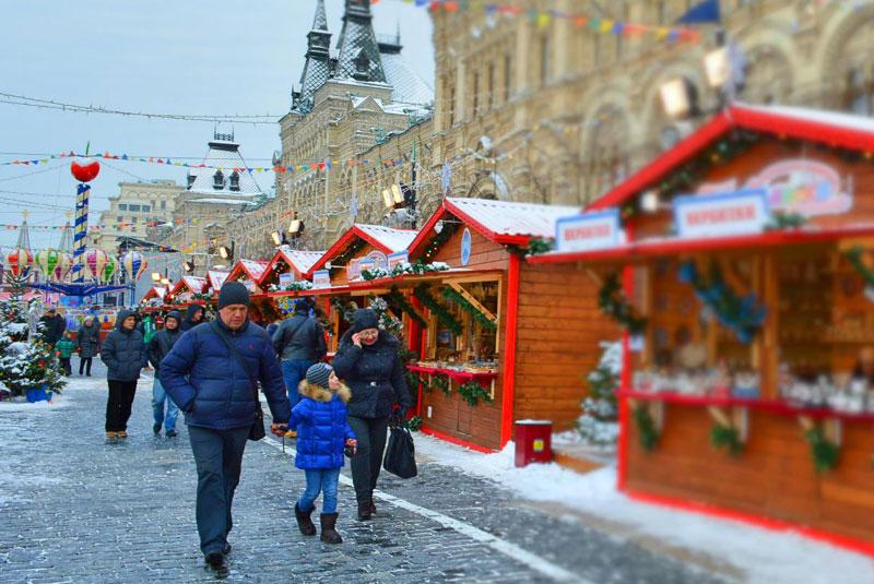 بازار میدان سرخ مسکو
