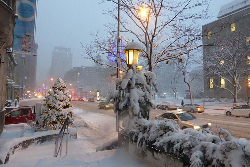 برف در مونترال