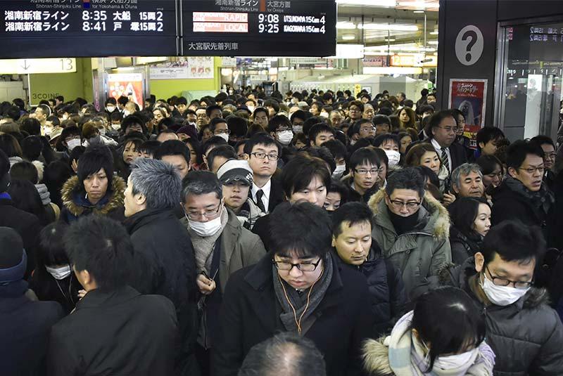ایستگاه قطار شینجوکو ژاپن