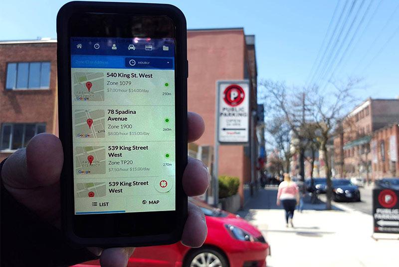 تورنتو پارکینگ اپلیکیشن