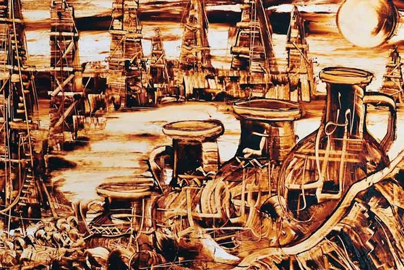 نقاشی های از جنس نفت خام - سوغات باکو