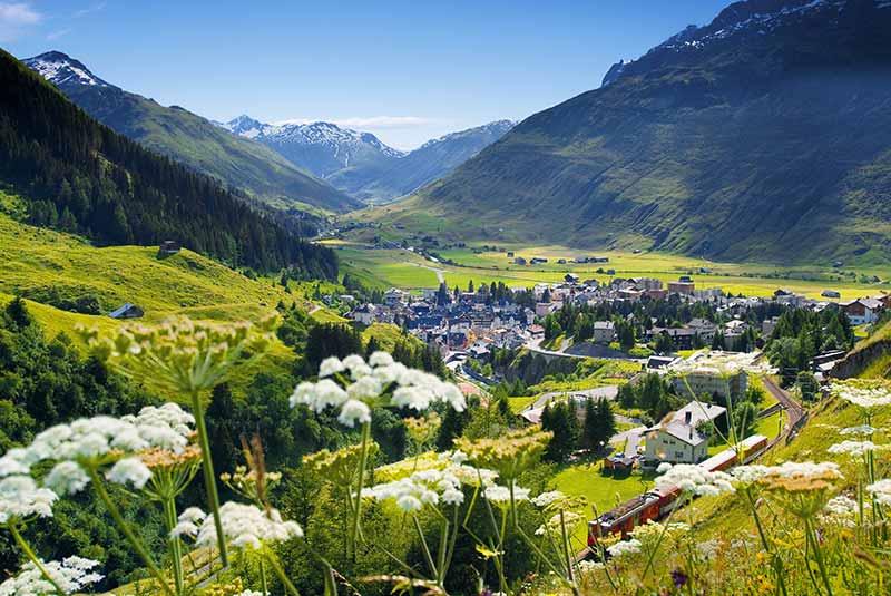 آندرمات - دهکده های زیبای سوئیس