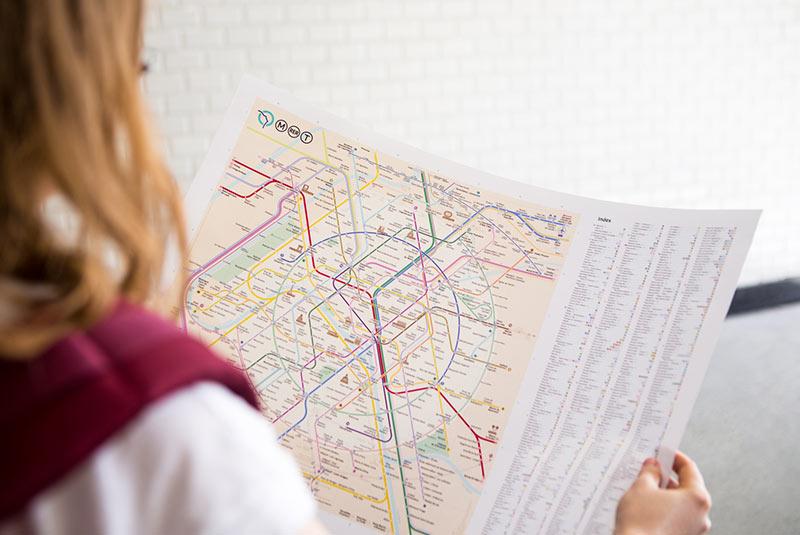 نقشه مترو پاریس