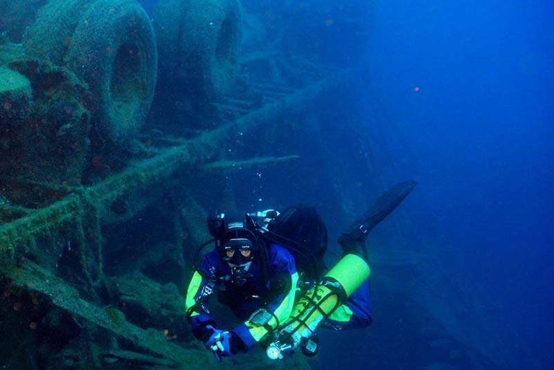 کشتی غرق شده آب های قبرس