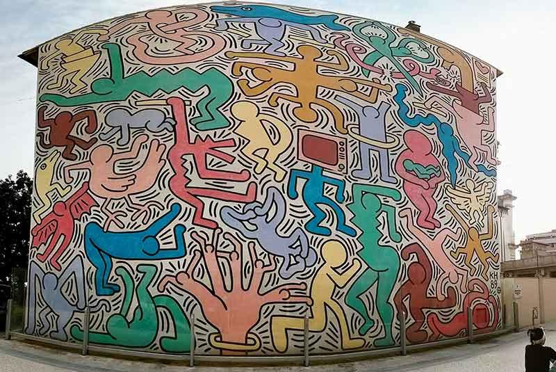نقاشی دیواری کیت هرینگ