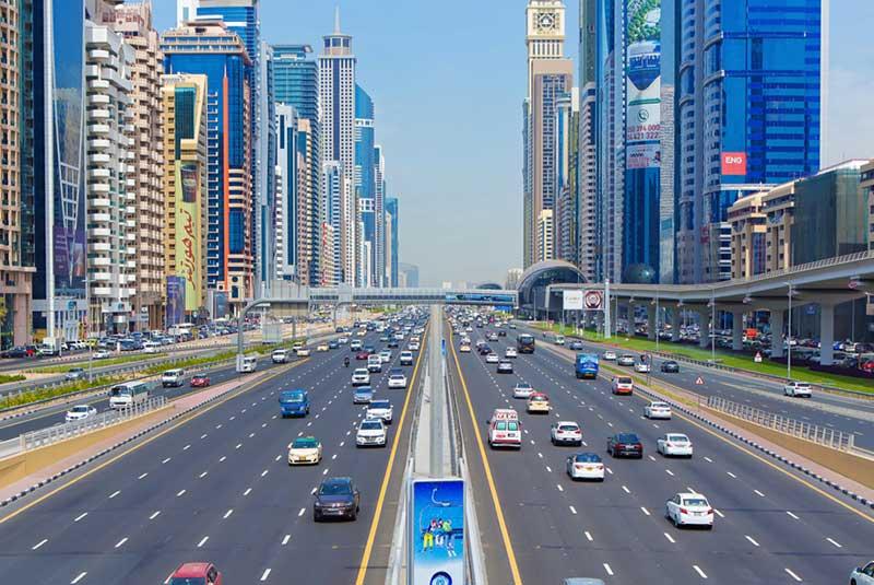خیابان شیخ زاید - دبی