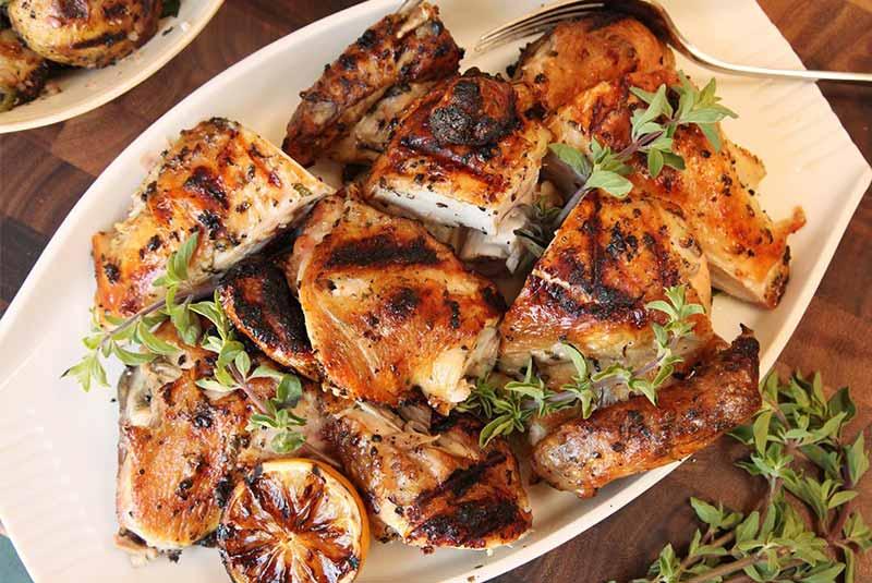 سینه مرغ با طعم سیر - غذای یونانی