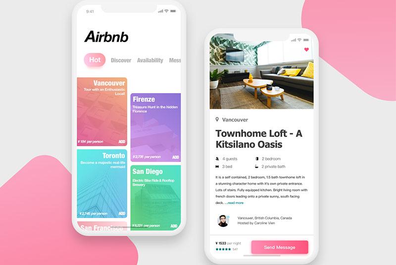 اپلیکیشن جستجوی هتل Airbnb