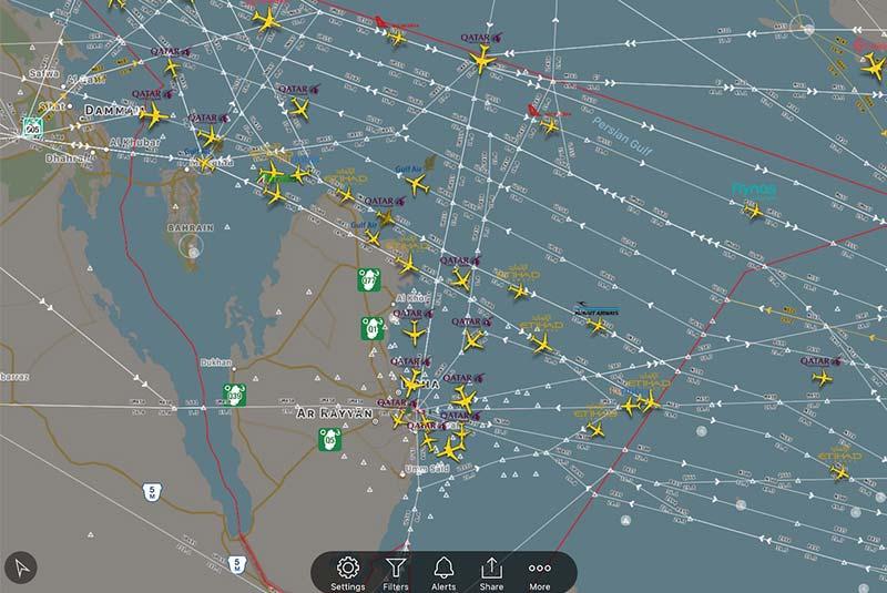 اپ سفر Flight Radar 24