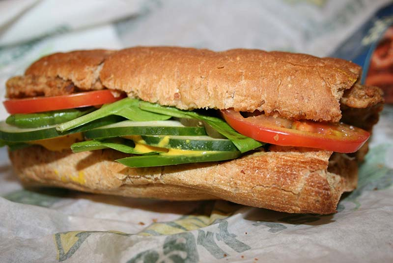 ساندویچ وگن ساب وی