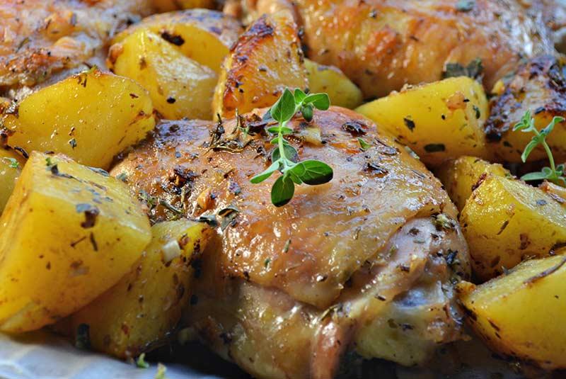 طرز تهیه مرغ لیمویی و سیب زمینی