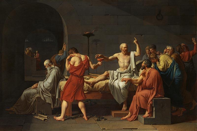مرگ سقراط - ژاک لویی داوید