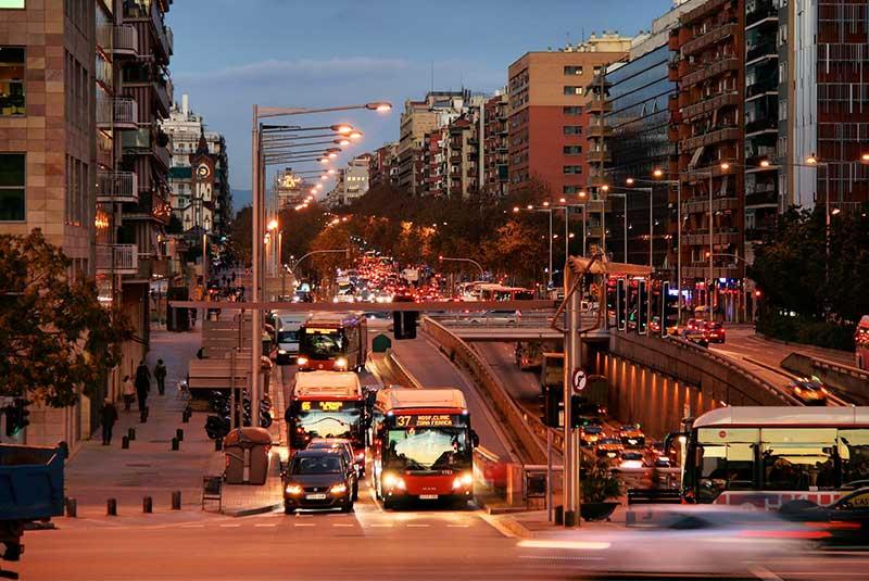 وسایل حمل و نقل عمومی در بارسلونا