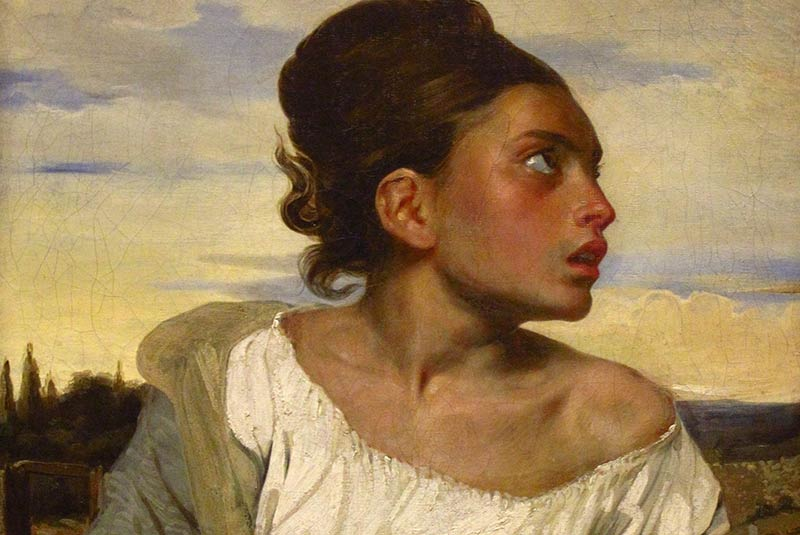 دختر یتیم در گورستان
