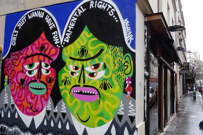 نقاشی دیواری خیابان خیابان سن مور