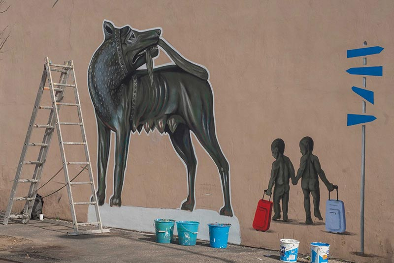ناحیه کوادرارو - گرافیتی رم