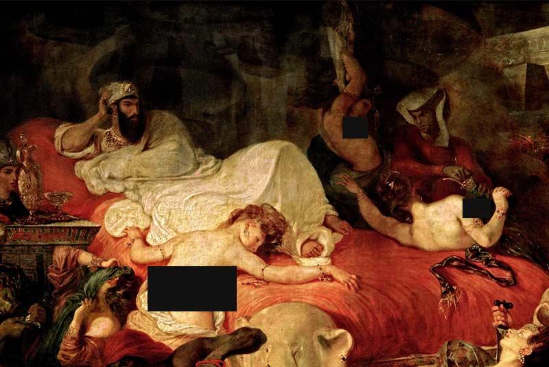 تابلوی نقاشی مرگ سارداناپالوس
