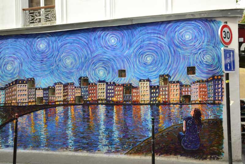 دیوارنگاری خیابان کسکاد پاریس