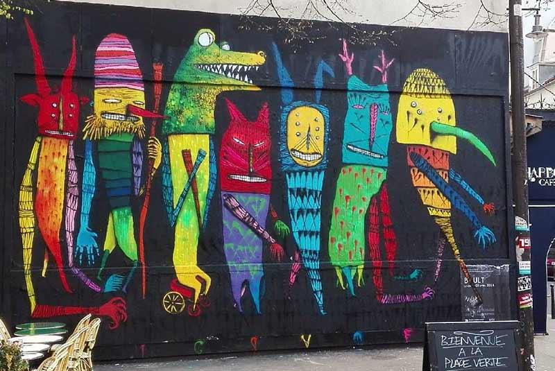 دیوارنگاری های خیابان خیابان ابرکمف