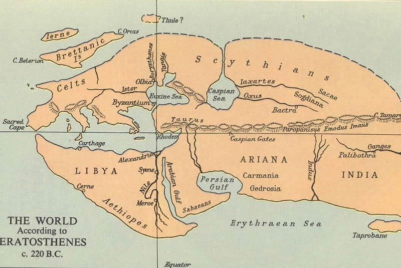 نقشه اراتوستن