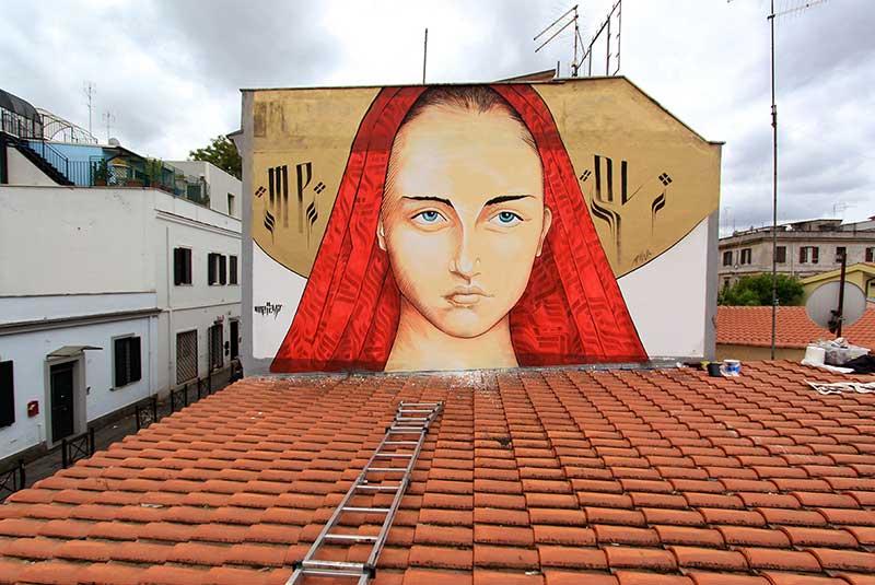محله پیگنتو - دیوارنگاره های رم