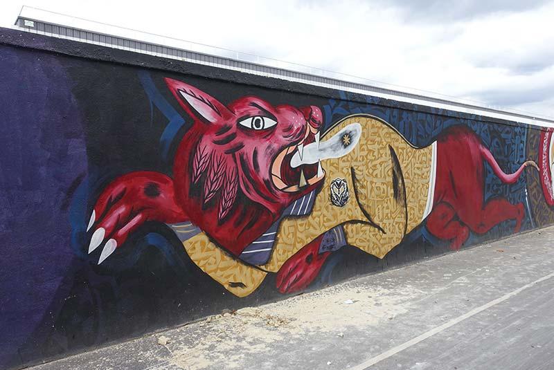 دیوارنگاری های خیابان ریکه