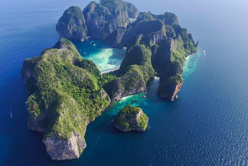 خلیج مایا، تایلند – فیلم ساحل (۲۰۰۰)