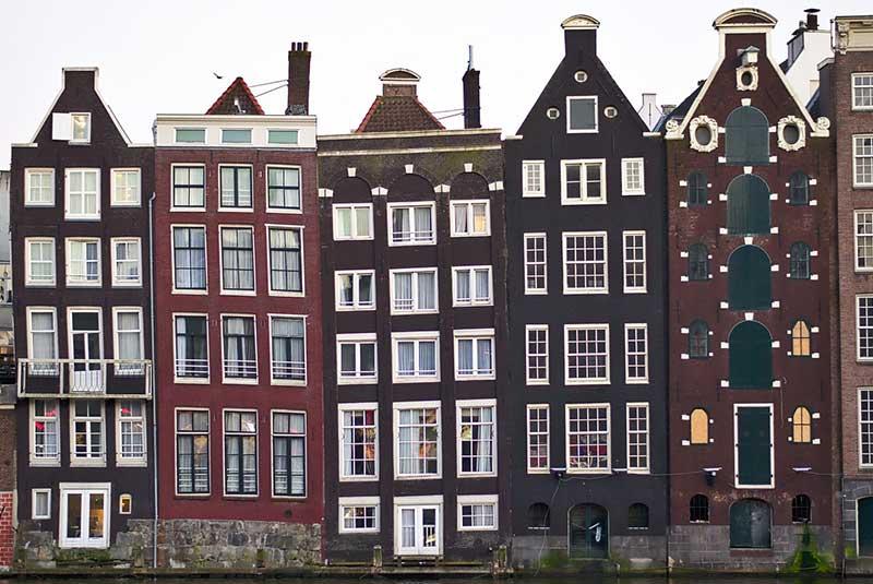 خانه های باریک آمستردام