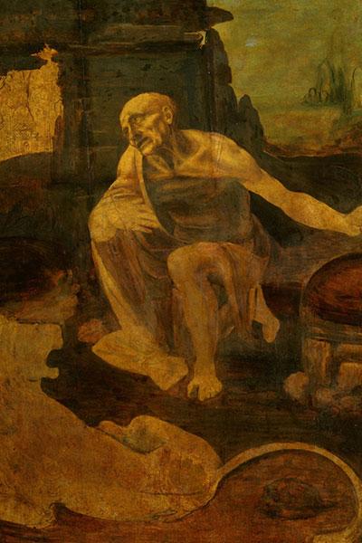 سنت جروم در بیابان، لئوناردو داوینچی