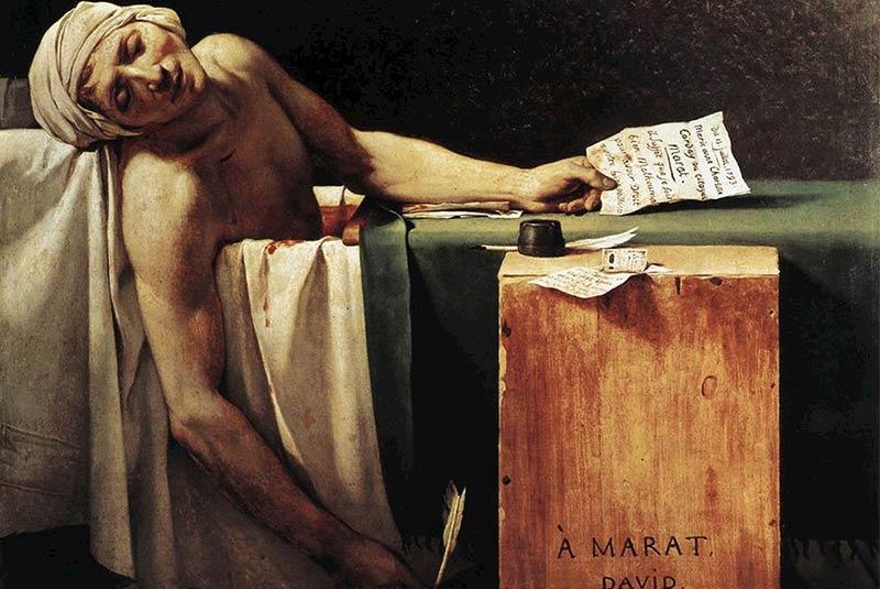 مرگ مارا، ژاک لویی داوید