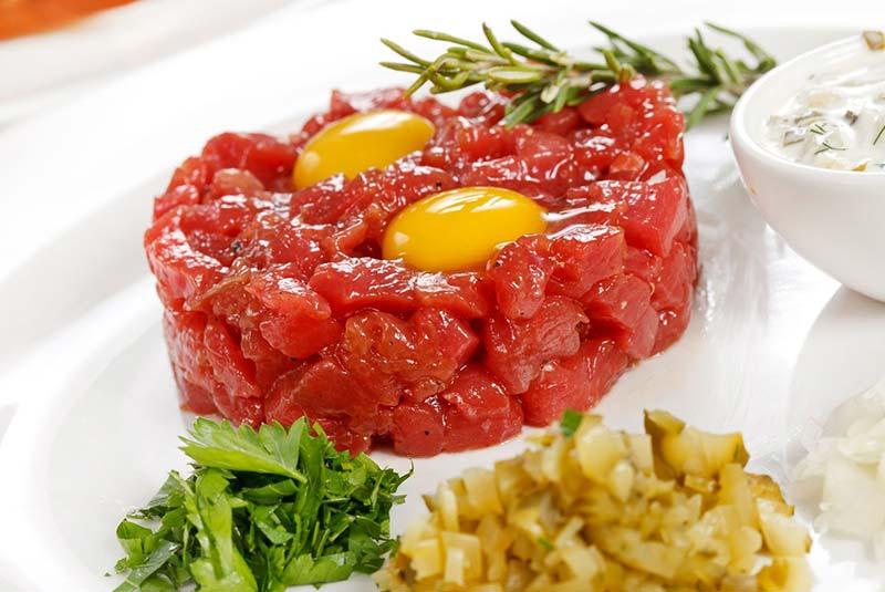 استیک تاتار - غذای لهستانی