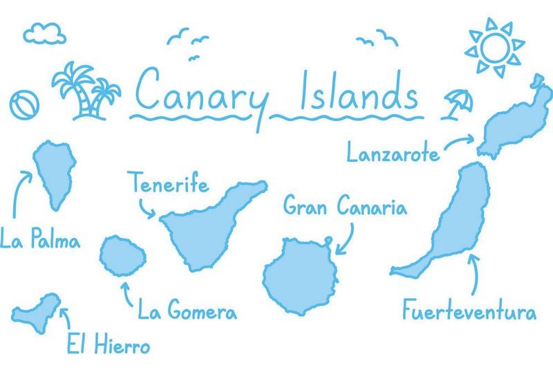 نقشه جزایر قناری