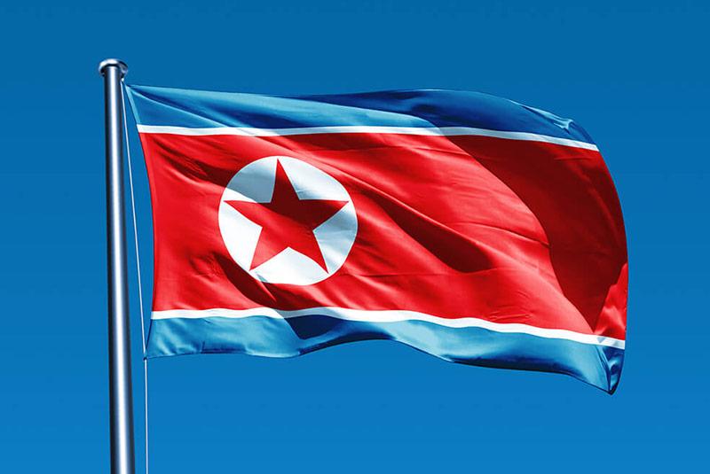 پرچم کره شمالی