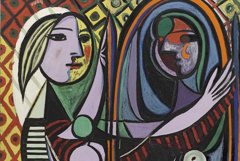 دختری در آینه - پیکاسو