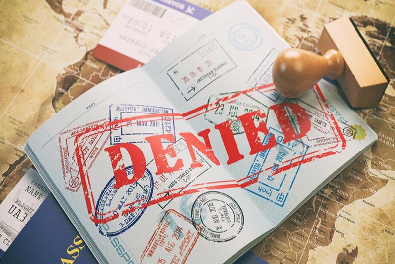 رد درخواست ویزا