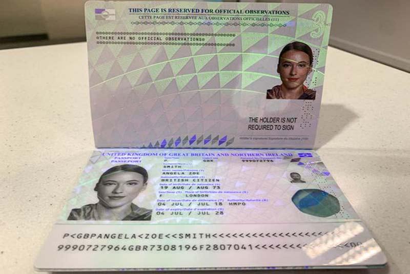 ویژگی های امنیتی پاسپورت