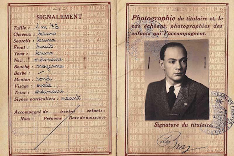 پاسپورت فرانسوی متعلق به 1939