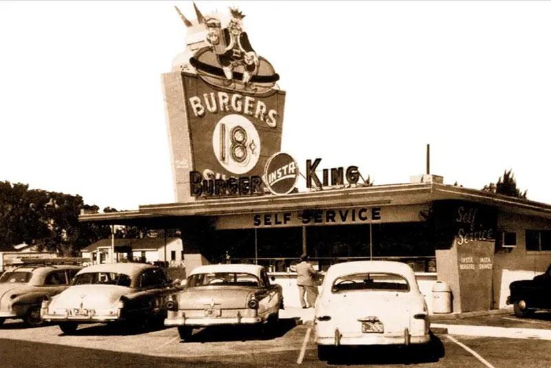اولین شعبه اینستا برگر کینگ