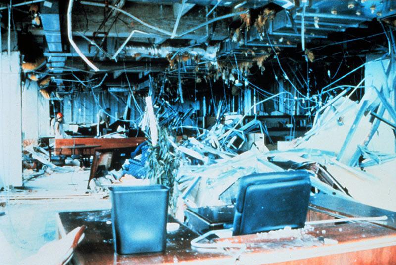 آسیب ساختمان مرکزی برگر کینگ