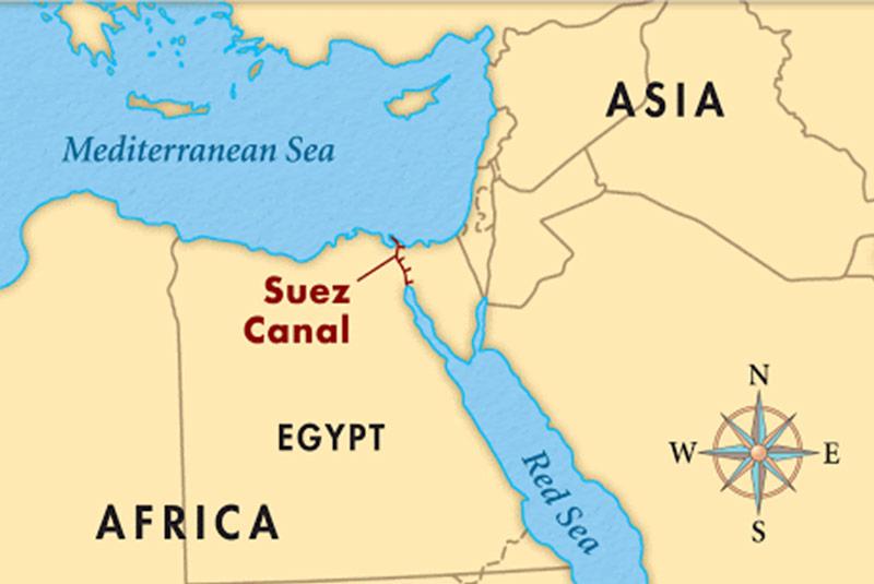 نقشه کانال سوئز