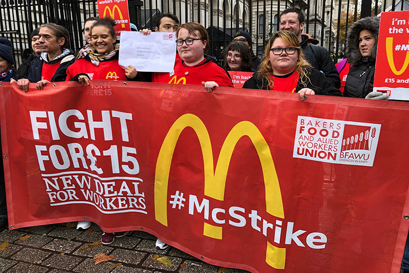 اعتصاب کارمندان مک دونالد